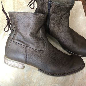 Josef Seibel leather ankle boots brown women's 39